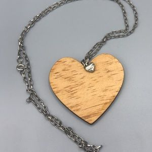 Heart on heart long necklace